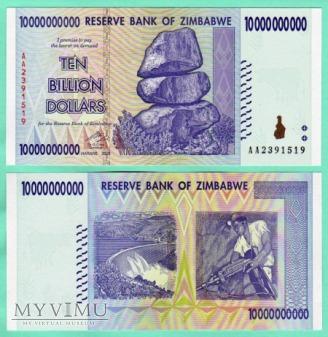 Zimbabwe - P 80 - 10000000000 Dollar - 2008