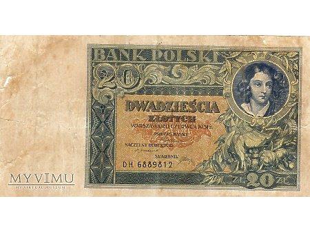 20 złotych 20.06.1931 r.