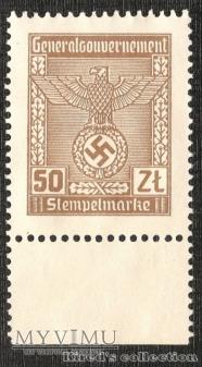 Stempelmarke 50 złotych (odmiana kolorystyczna)