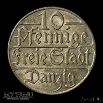 Wolne Miasto Gdańsk - 1923 10 Pfennige
