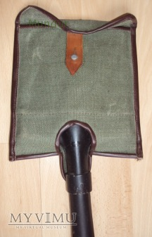 Lopatka piechoty - czarna w pokrowcu