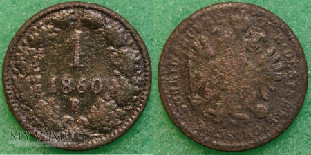 Austria, 1 Krajcar 1860 B