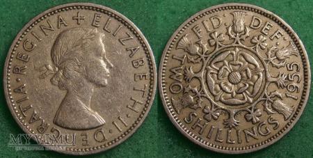 Wielka Brytania, 2 SHILLINGS 1955