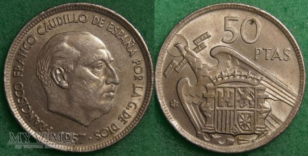 Hiszpania, 50 peset 1957