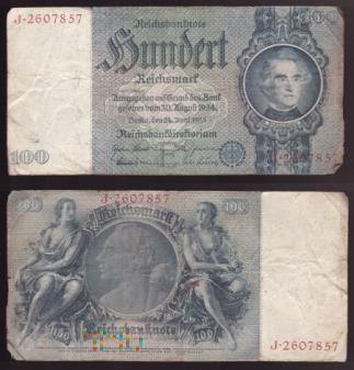 Niemcy, 100 marek 1935r. Ser.J