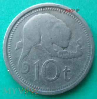 10 Toea Papua Nowa Gwinea 1976
