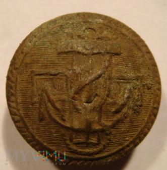Duże zdjęcie Polski guzik wojskowy (marynarski) wzór 1952