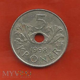 Norwegia 5 koron, 1998