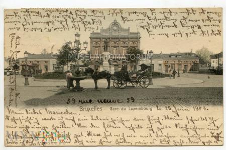 Bruksela - Dworzec Luksemburski - 1903