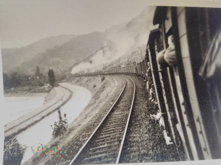 żołnierze w pociągu 1939