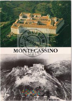 Monte Cassino - klasztor w 1944 i obecnie