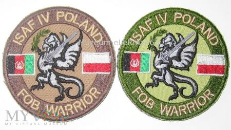 ISAF Afganistan. Zmiana IV. FOB WARRIOR
