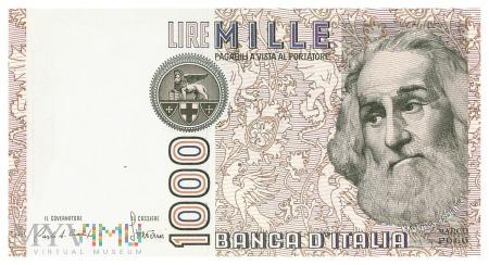 Włochy - 1 000 lirów (1985)