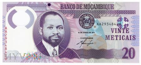 Mozambik - 20 meticali (2011)