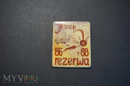 Odznaka Rezerwy Jesień 86/88