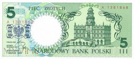 Polska - 5 złotych (1990)