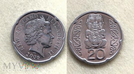Nowa Zelandia, 20 centów 2006