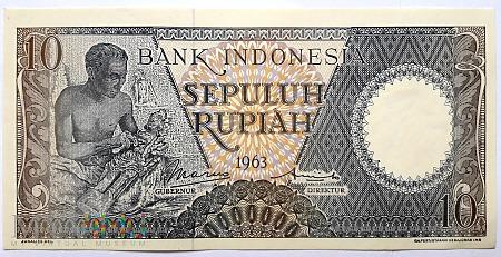 Duże zdjęcie 10 rupii 1963