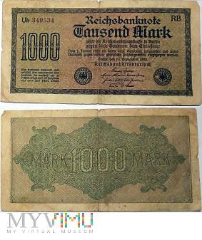 Duże zdjęcie 1000 Mark, 1922 RB (II)