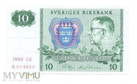 Duże zdjęcie Szwecja - 10 koron, 1990r.