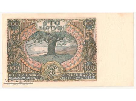 100 złotych 9 listopada 1934 rok Ser. C.O.