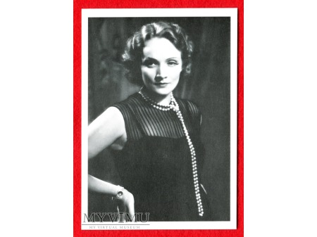Marlene Dietrich Marlena i perły ART DECO