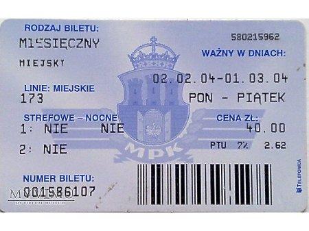 Bilet MPK Kraków 35