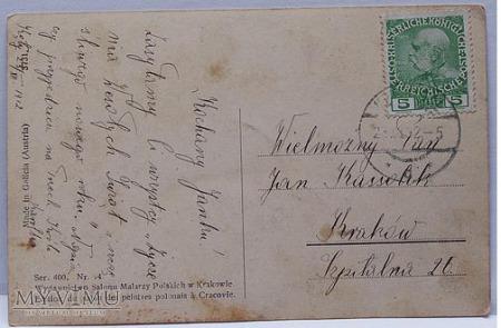 SETKOWICZ WESOŁYCH ŚWIĄT,KARTKA POCZTOWA,1919r.