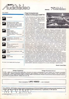 SAT AUDIO VIDEO 1991 rok, cz.II