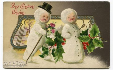 Wesołych Świąt Bałwanki Bałwan John Winsch