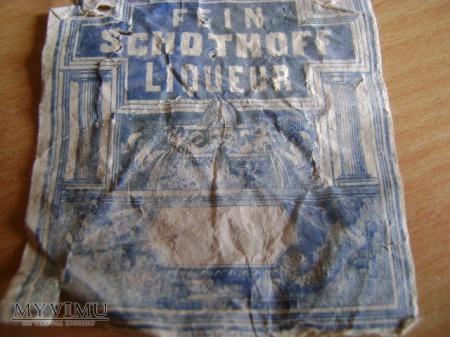stara pruska etykieta od likieru
