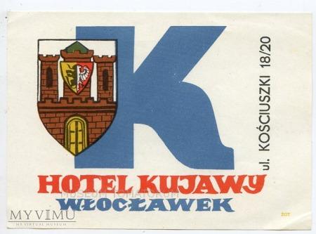 Nalepka hotelowa - Włocławek - Hotel Kujawy