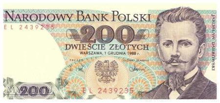 200zł 1988r.