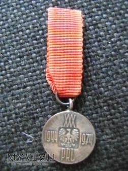 miniaturka medalu 30 lat PRL