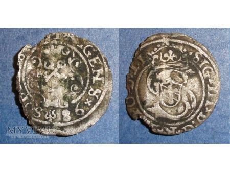Szeląg ryski1598
