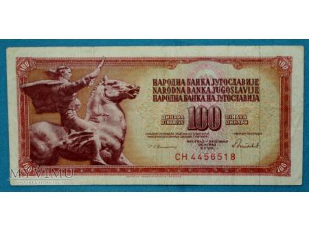100 Dinarów 1986