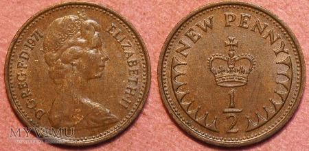 Wielka Brytania, half penny 1971