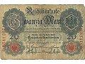 Banknot 20 markowy z 1910 roku.