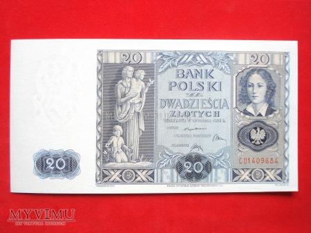 20 złotych 1936 rok