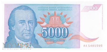 Jugosławia - 5 000 dinarów (1994)
