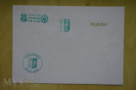 Poczta polowa - koperta KFOR POLUKRBAT