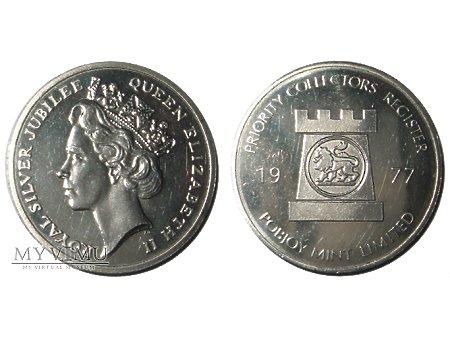 Duże zdjęcie Elżbieta II Wielka Brytania medal niklowy 1977