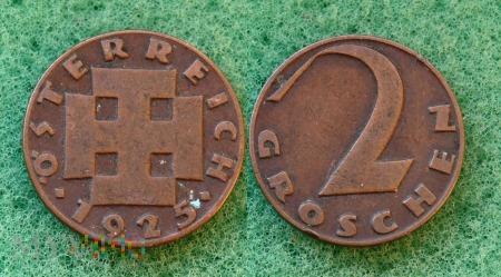 Austria, 2 groschen 1925