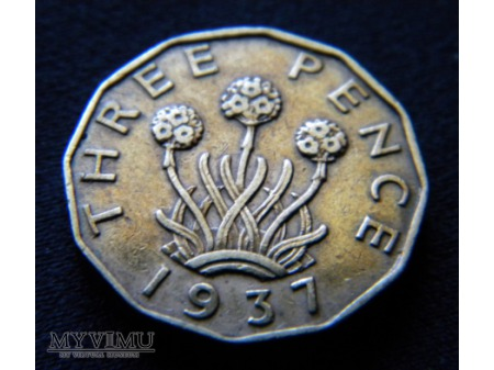 three pence 1937
