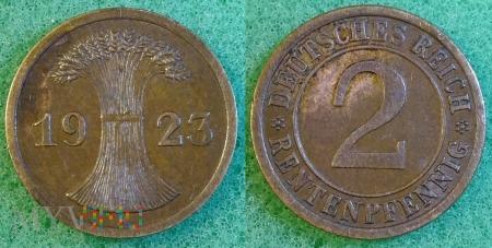 Niemcy, 1923, 2 Rentenpfennig