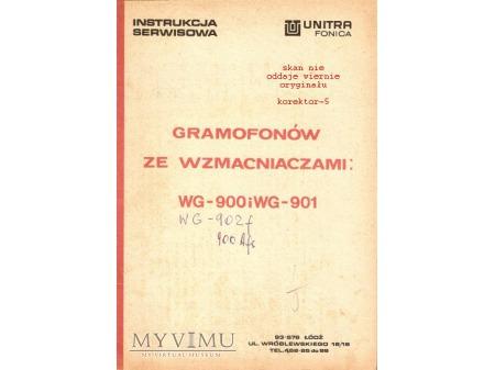 Instrukcja serwisowa gramofonu WG-900,901