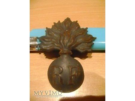 granat z francuskiego hełmu