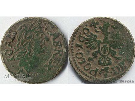 szeląg koronny 1664 18