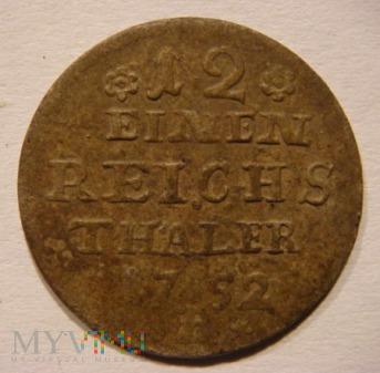 12 EINEN REICHS THALER 1752 B