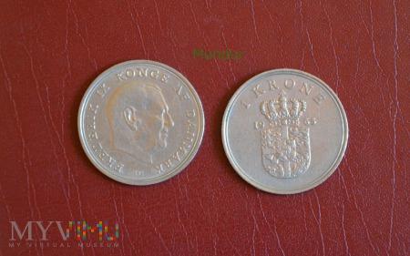 Moneta duńska: 1 krone